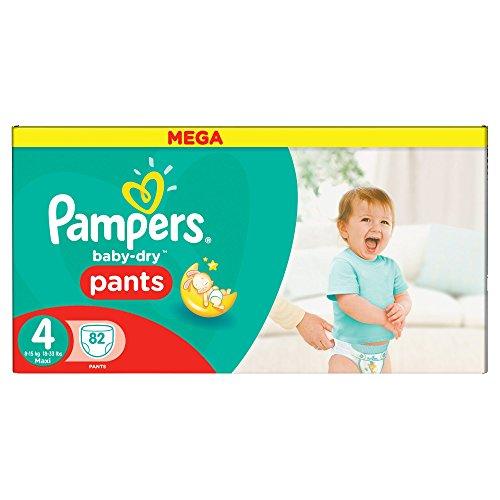 Pampers Baby-Dry Pants Pañales para Bebés, Talla 4 (8-15 kg) - 82 pañales