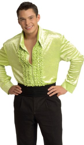Green Ruffled Disco Shirt