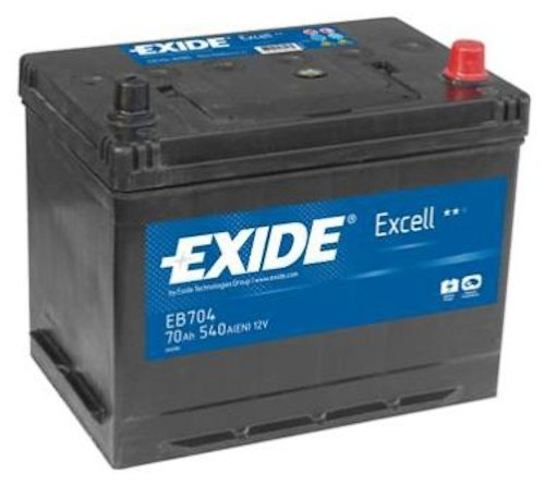Exide Excell EB704 70Ah Autobatterie wartungsfrei