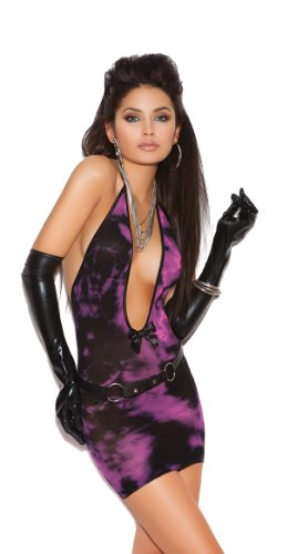 Elegant Moments Black And Pink Tie Dye Chemise Black/Pink One Size Fits Most