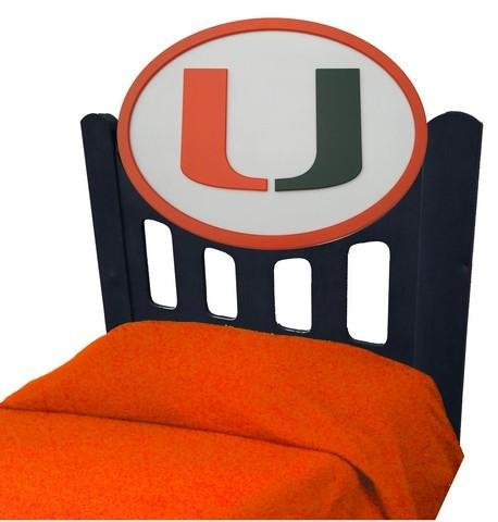 Cheap University of Miami Hurricanes Kids Wooden Twin Headboard With Logo (C0526B-Miami)