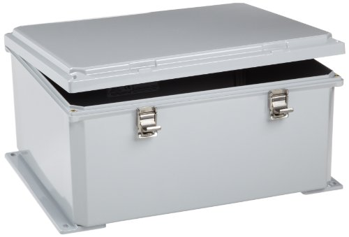 """Integra H161407Hfll Premium Line Enclosure, Hinged, Locking Latch Cover, Opaque Cover, Mounting Flange, 16"""" Height, 14"""" Width, 7"""" Depth"""