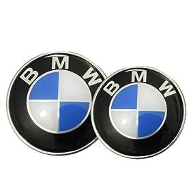 82/73mm BMW Blue White Hood Trunk Emblem