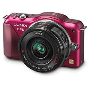 Panasonic Lumix DMC-GF5XR Live MOS Micro 4/3 Compact Sytem Camera with 3-Inch Touch Screen and 14-42 Power Zoom Lens (Red)