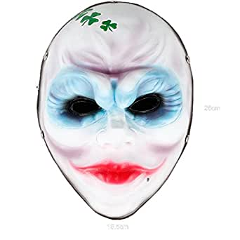 Payday 2 Party Mask,SALICO Female Robbers Halloween Resin Costume Mask