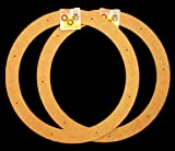 """2 Pack, 18"""" Biodegradable Floral Craft Ring, Ez Glueable Wreath Form, for Photo Frame, Other Arts , Props and Crafts Projects"""