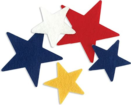 Stick-It Felt Shapes 68-Pack: Stars