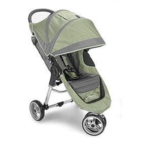 Baby Jogger City Mini Jogging Strollers - Green-Grey
