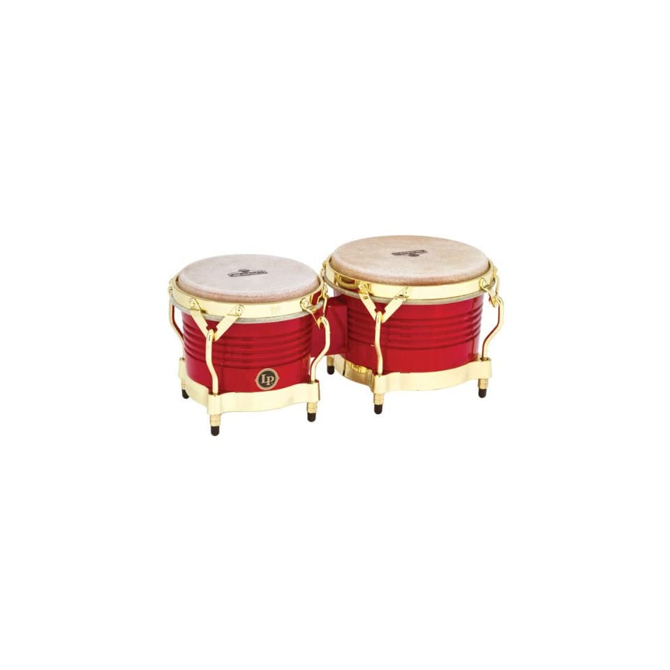 LP Matador M201 RW Wood Bongos (Red, Gold): Musical Instruments
