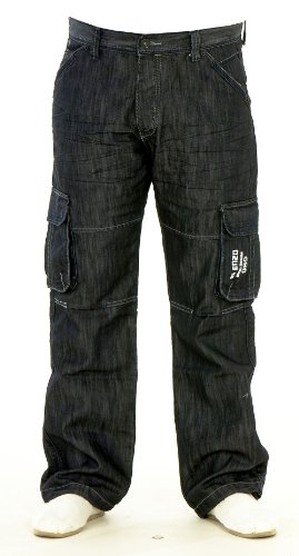 High Quality Mens Boys Enzo Branded Denim High Fashion Cargo Combat Jeans Trousers Size 28