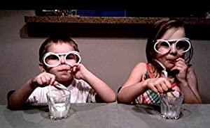 5 pcs plastic DIY drinking straw eyeglasses,silly straw glasses,amazing straw glasses---clear