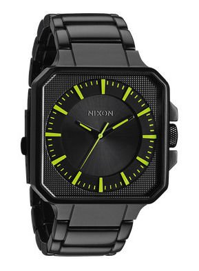 Nixon Platform Watch - Men's All Black/Lum, One Size