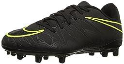 Nike Jr. Hypervenom Phelon II FG Indoor Soccer Shoe (Sz. 2.5Y) Black