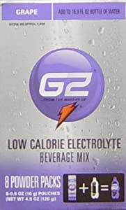 G2 Powder Packs Low Calorie Electrolyte Water Beverage Mix, GRAPE Flavors, 8 Packets (PACK of 3)