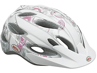 BELL STRUT WOMENS CYCLE HELMET CANDY TRANCE WHITE/PINK LADIES BIKE CRASH 50-57cm by BELL
