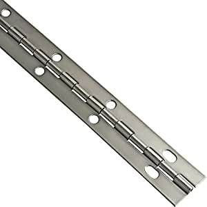 Stainless Steel Piano Hinges, 1-1/16'' W x 36'' L