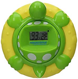 Aquatopia Deluxe Safety Bath Thermometer Alarm, Green