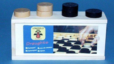Jouetprive-Pions de jeu de dames avec boite de rangement Longfield Lucile