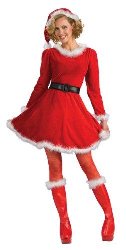 Rubie's Costume Women's Mrs. Claus Dress, Red/White, Medium