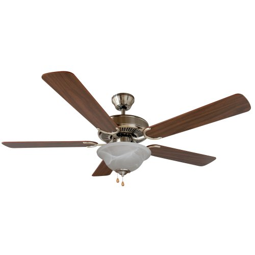 Yosemite Home Decor Calder-Sn-1 52-Inch Ceiling Fan With Light Kit And Walnut/Wengue Blades, Satin Nickel