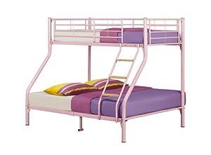 Happy Beds Nexus Quality Metal Triple Sleeper Bunk Bed Furniture 2x Mattress New