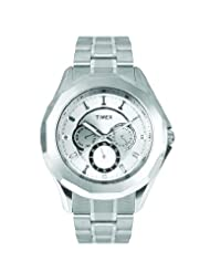Timex E Class Multi Function Chronograph Silver Dial Men's Watch TI000P60100