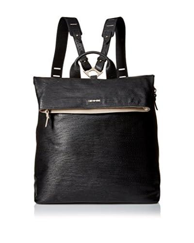Alexander McQueen Men's Embossed Leather Knapsack, Black