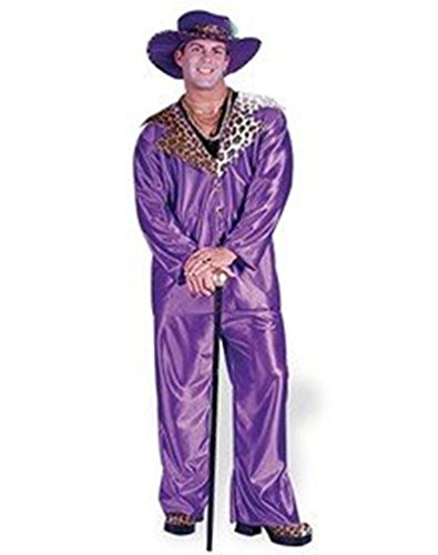 Big Daddy Pimp Costume - Purple, standard size