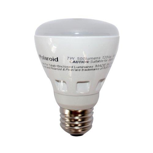 Polaroid Lighting Plpr20-45.500.7.1D 45-Watt Equivalent 500-Lumen R20 Dimmable Light Bulb, Soft White