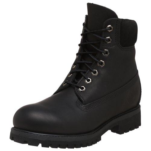 "Timberland AF 6IN PREM BT BLACK SM 6"" Premium - Botas de cuero nobuck para hombre, color negro, talla 41"