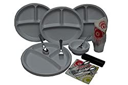 Amit Super disposable plates,[combo of 155-pc], 12 Size