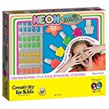 Girls Deluxe NEON Nail Polish Set - Nail Stickers, 5 Polishes, Press On Nails and More!