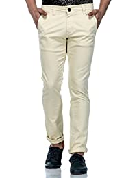 Tinted Men's Solid Chinos Trouser Pant