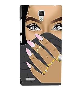PrintVisa Beautiful Eyes Girl Art 3D Hard Polycarbonate Designer Back Case Cover for Xiaomi Redmi Note Prime