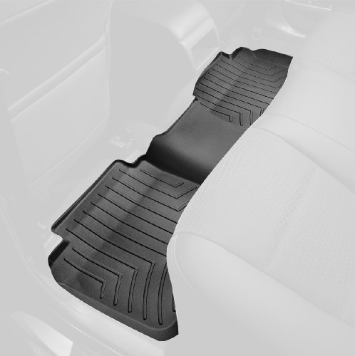 WeatherTech Custom Fit Rear FloorLiner for Select Chevrolet/GMC Models (Black) (Weathertech Floor Mats Sierra compare prices)