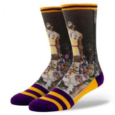 Stance Men's James Worthy L.A. Lakers Crew Socks, Purple, Large/X-Large