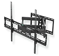 CNCT Heavy Duty (Weight Capacity - 50 KGS) Wall Mount Bracket / Stand Dual Arm for upto 72