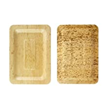 PacknWood 210BBOUA20 Bamboo Leaf Plate, 7.9-Inch Long x 5.5-Inch Wide x 0.4-Inch High (10 Packs of 10)