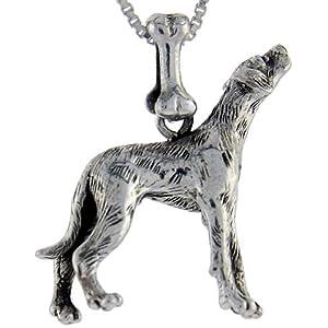 Sterling Silver Dalmatian Dog Pendant