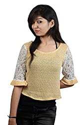 EEIA Women's Yellow Woven Top