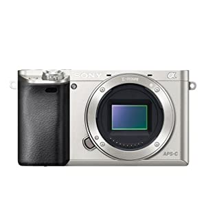 Sony A6000 Interchangeable Lens Digital Camera Body Only - Silver (24.3MP)