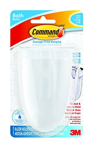 Command BATH16-ES-E 1 Holder 1 Medium Strips Razor Holder (Command Soap Dish compare prices)