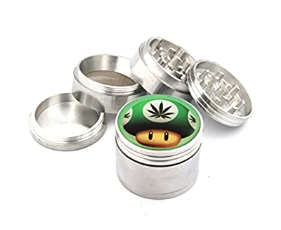 Green Mushroom With Weed Fashion Design Indian Aluminum Spice Herb Grinder from Doming USA