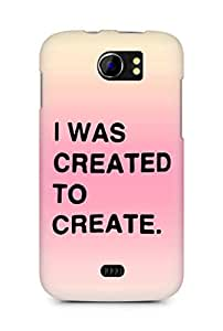 AMEZ i was created to create Back Cover For Micromax Canvas 2 A110