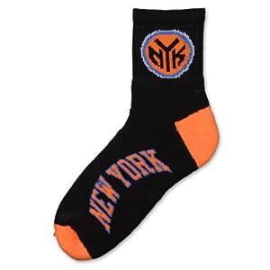 NBA New York Knicks Mens Team Quarter Socks by For Bare Feet
