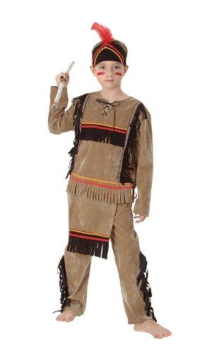 Indianer Kinder Kostüm Gr. M 6 - 9 Jahre ohne Streitaxt