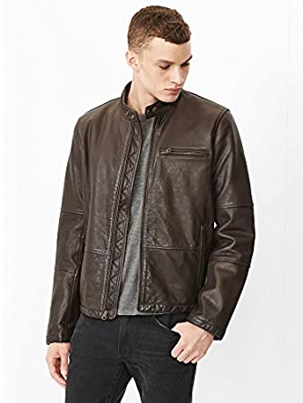 Gap Men Leather Moto Jacket Size XS at Amazon Men's Clothing store: