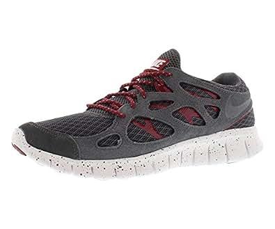 Nike Herren Laufschuhe Free Run+ 2 EXT 555174 42.5 dark grey/team red-white