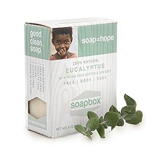 Soapbox Soaps All-Natural Bar Soap, Eucalyptus