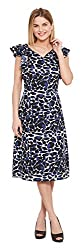 Meee Women's Wrap Dress (MEEE-004980_White_Medium)